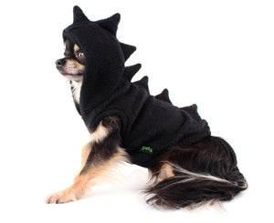 Black Fleece cute Dinosaur Dino Dog Hoodie best seller!