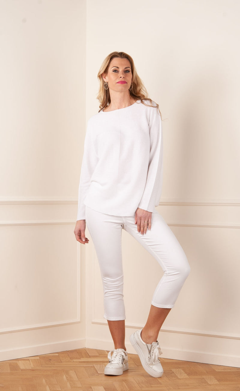 "3/4 Jeans legging ""Philia"" White"