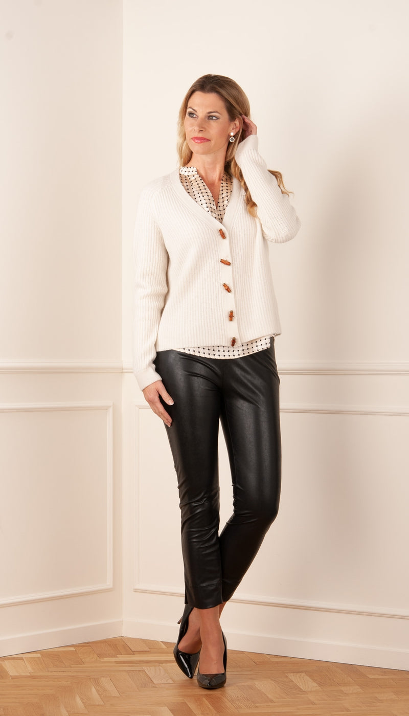 Cashmere cardigan offwhite
