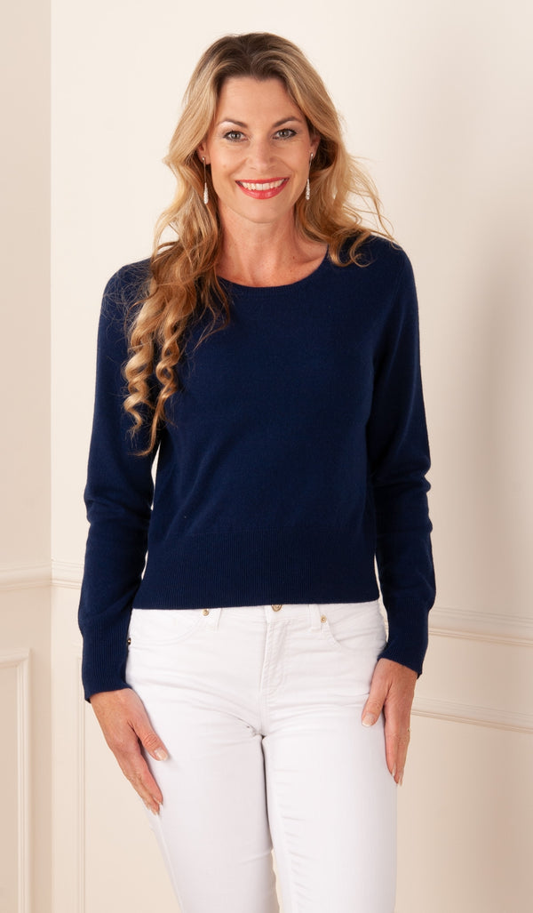 FTC Fair Trade Cashmere - Pullover Dunkelblau