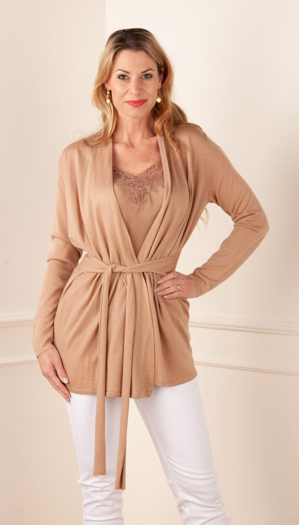 FTC Fair Trade Cashmere Strickjacke Camel