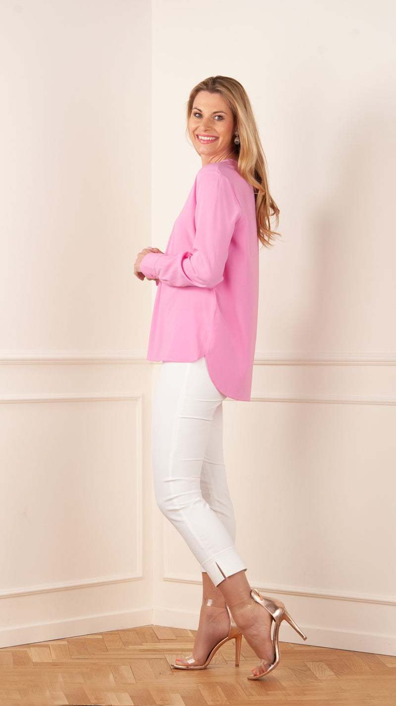 Silk blouse pink