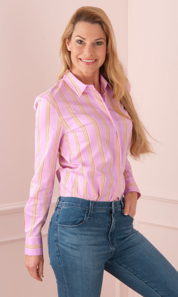 "LOUIS AND MIA - Bluse ""Streifen"" Rosa 