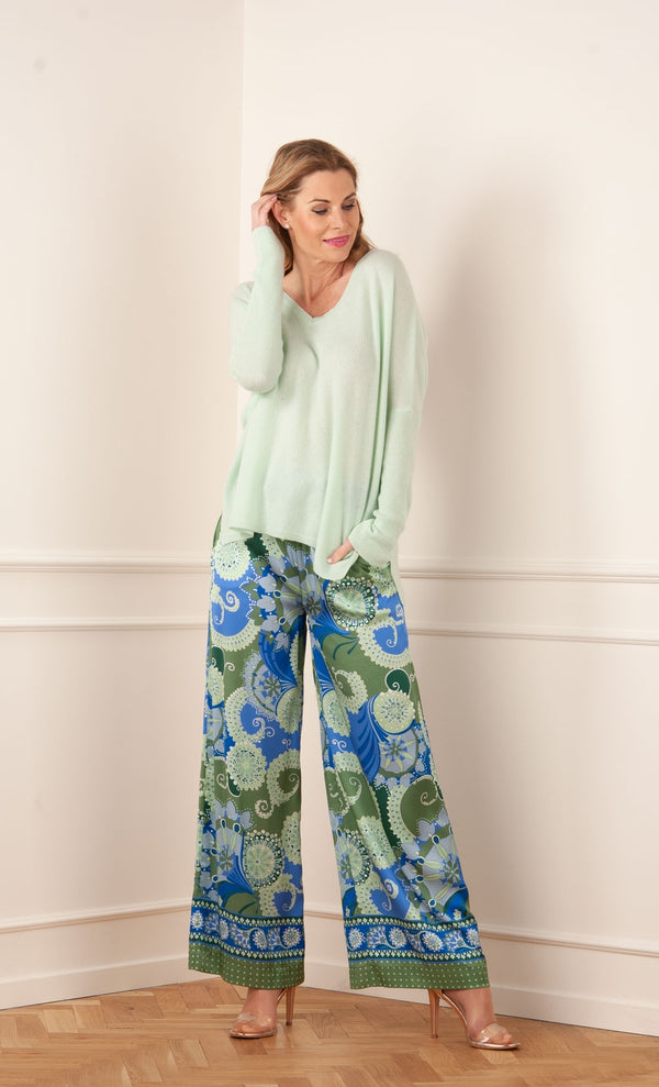 Cachemire pull - over menthe