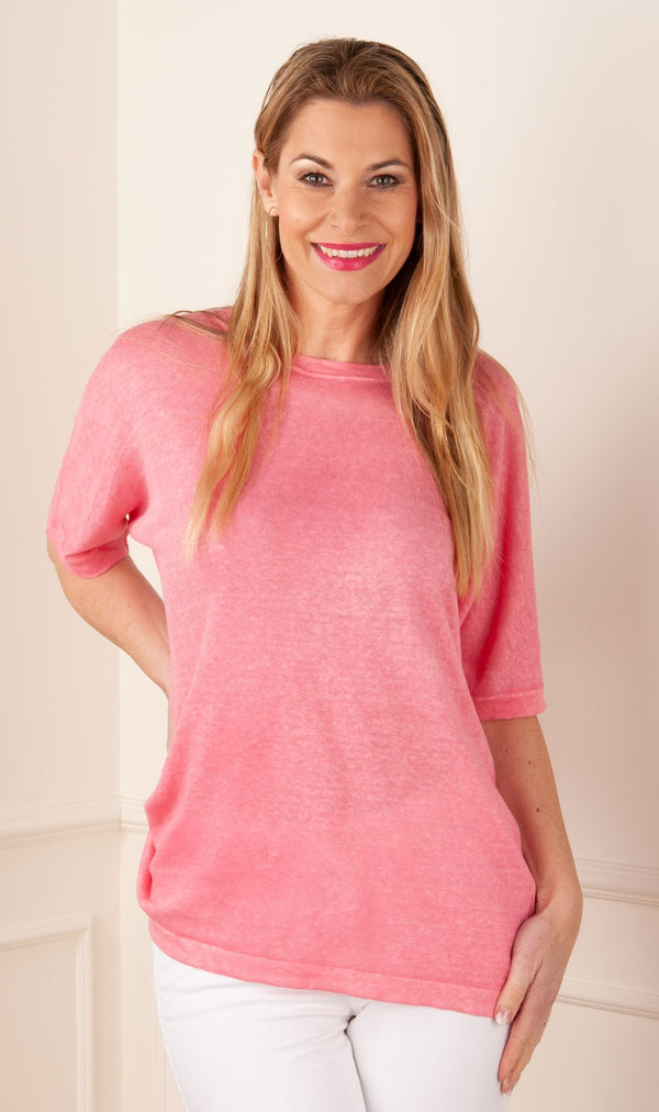 Rosa & Me - Leinen Pullover Pink