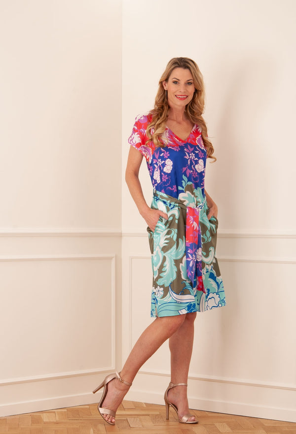 "SHIRT A PORTER - Kleid ""Arabesque"" Blau 