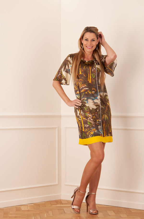 "SHIRT A PORTER - Kleid ""Palmen"" Multicolor"