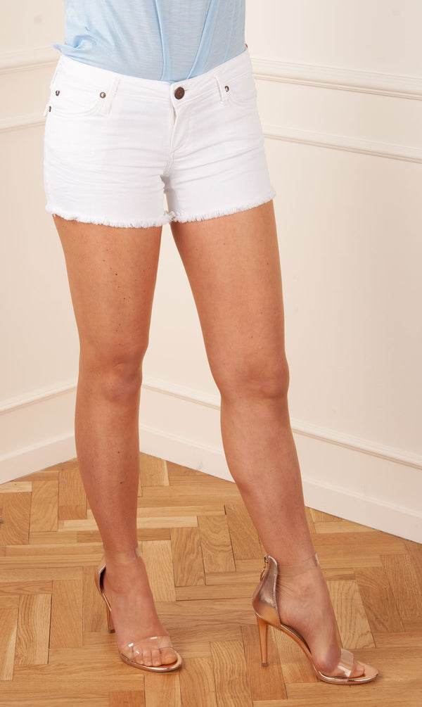 "TRUE RELIGION - Hot Pants ""Short"" Weiß"