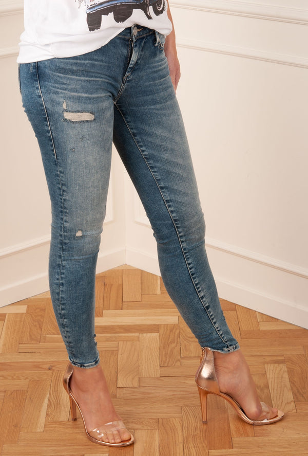 "TRUE RELIGION - Jeans ""Halle Destroyed"" Blau"