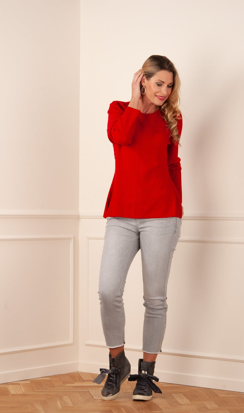 "Pullover ""Patentstrick"" Rot"