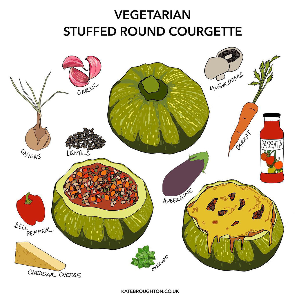 Stuffed Courgette - vegetarian recipe