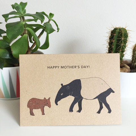 tapir happy mothers day card