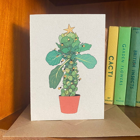 Brussels Sprout Christmas Tree Card