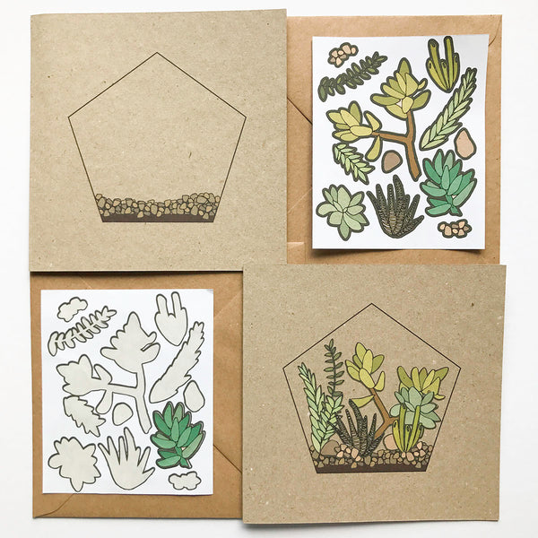 DIY Terrarium Sticker Card