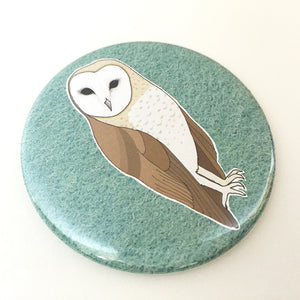 barn owl pocket mirror
