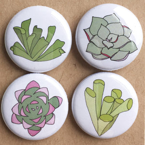 Succulent badge set