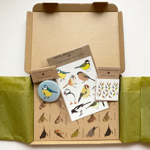 Bird themed letterbox gift box