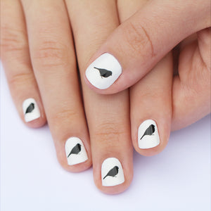 Black Bird Nail Art Transfers