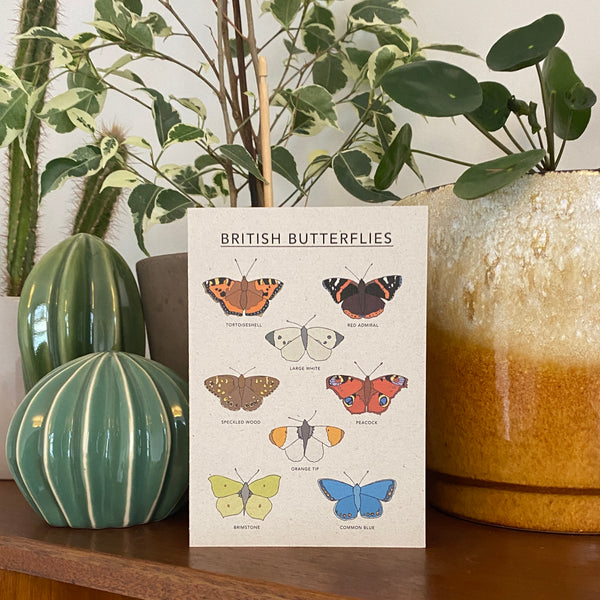 British Butterflies Illustrated Card