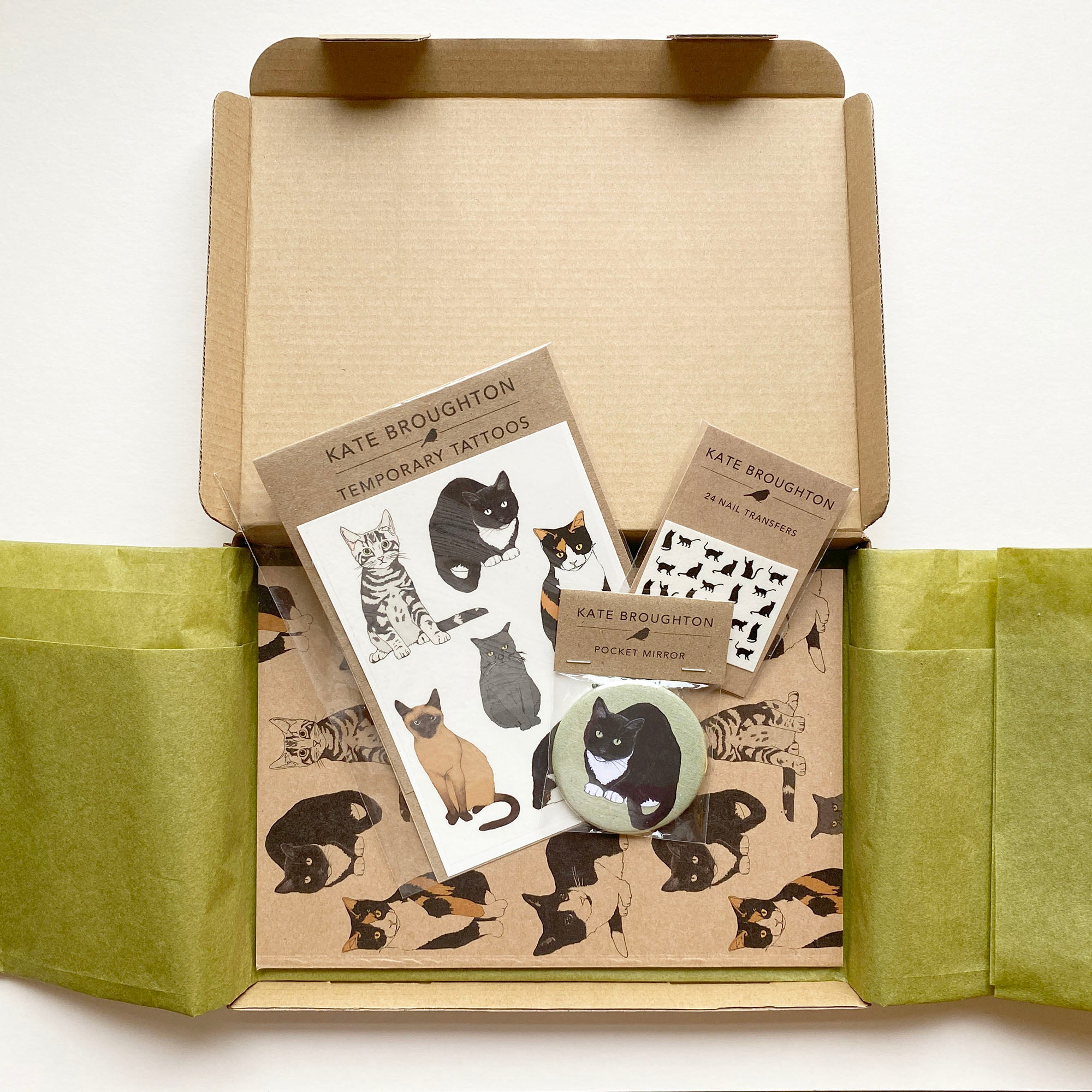 Cat themed letterbox gift box