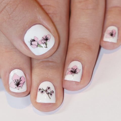 Cherry Blossom Nail Art Transfers