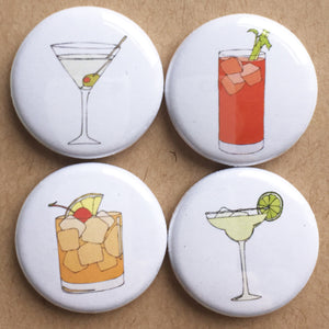 Cocktail badge set