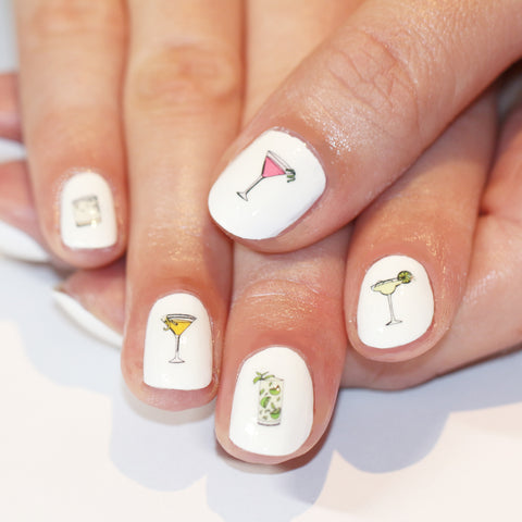 Cocktail Nail Art Transfers