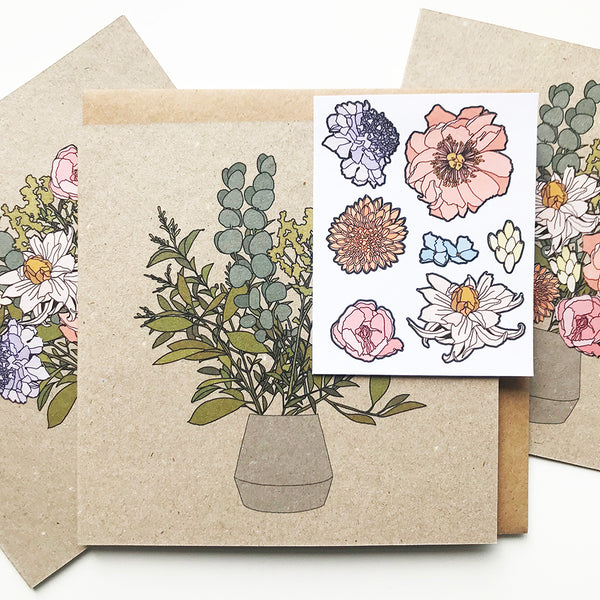 DIY Flower Sticker Card