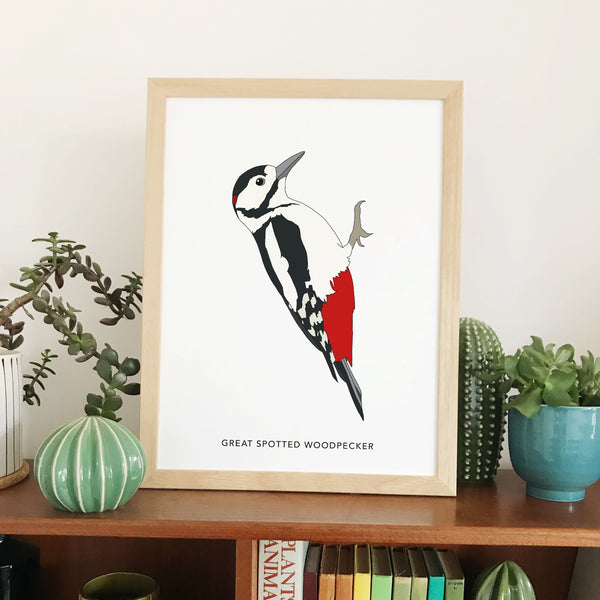 Great Spotted Woodpecker bird print