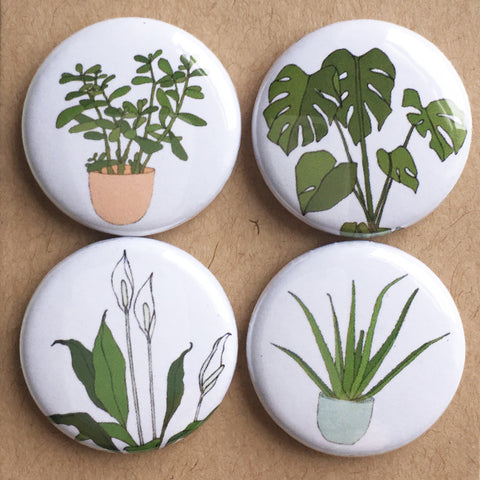 Houseplant badge set