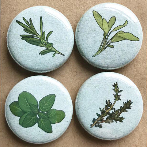Kitchen Herb Fridge Magnets