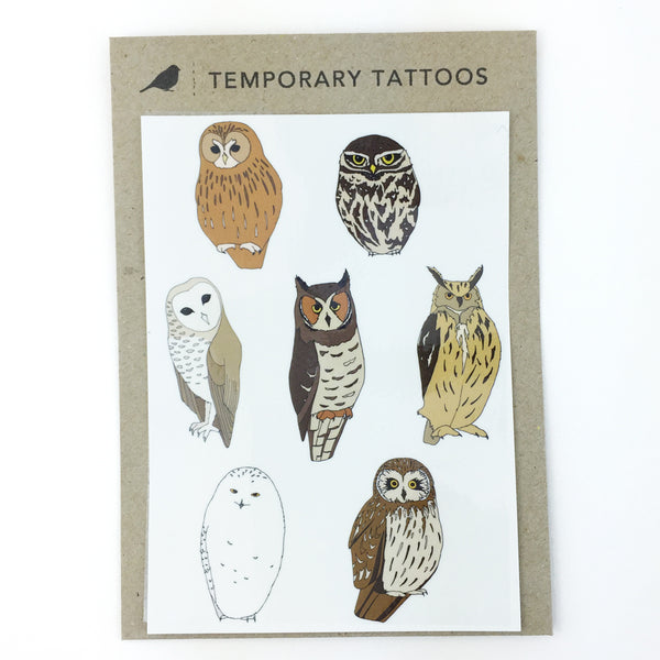 Owl Temporary Tattoos