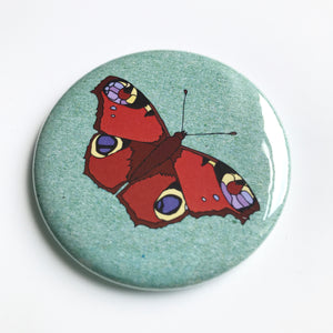 Peacock Butterfly pocket mirror