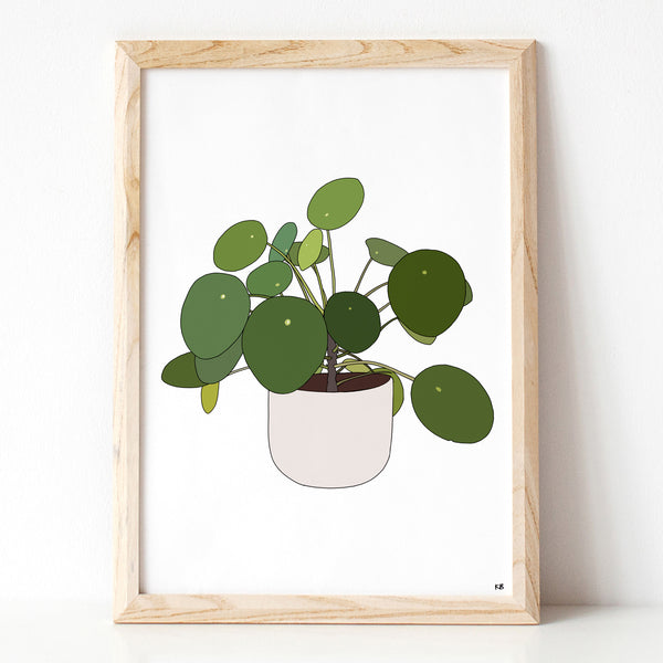 Pilea Peperomioides Plant Print