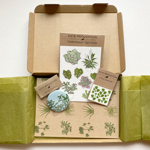House plant themed letterbox gift box