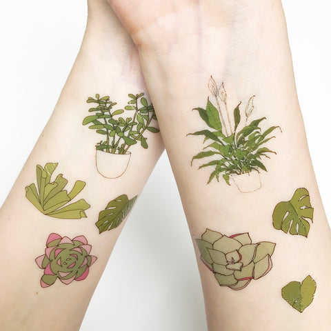 Plant Temporary Tattoos
