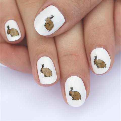 Rabbit Nail Art Transfers