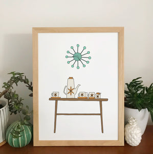 Retro Homes Coffee Table Print