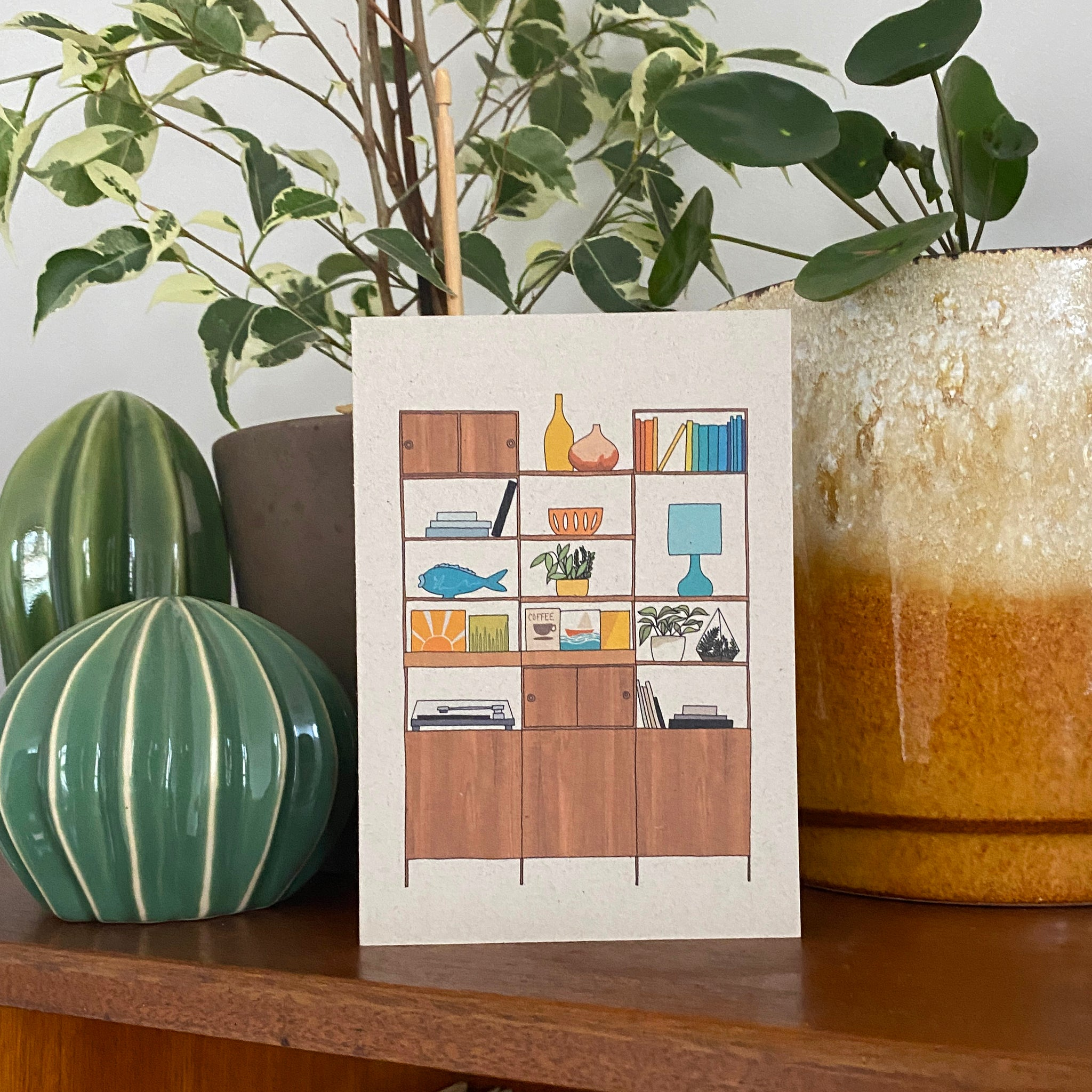 Retro Homes Shelves Card