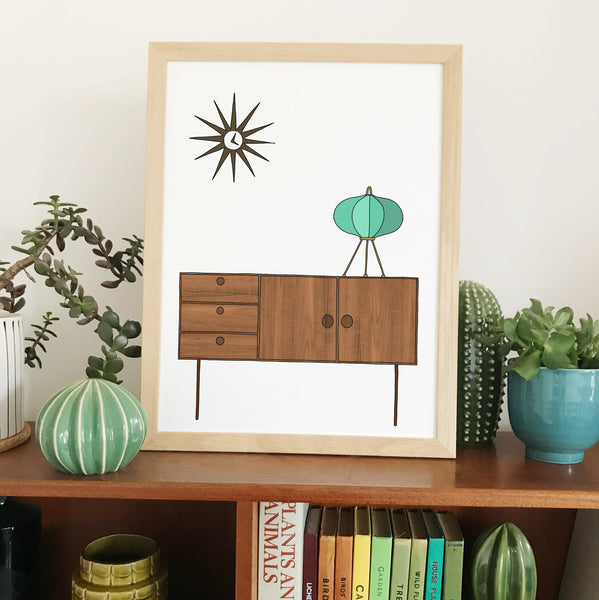 Retro Homes Sideboard Print