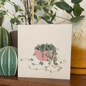 String of Hearts Houseplant Card