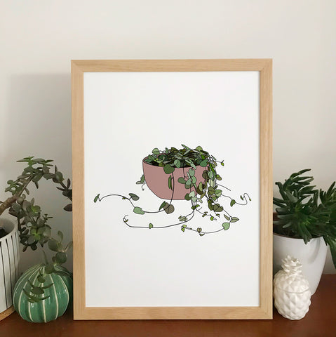 String Of Hearts Plant Print