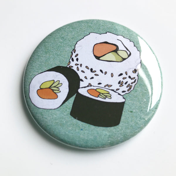 Sushi pocket mirror