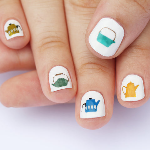 Teapot Nail Art Transfers