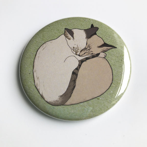 Two cats pocket mirror
