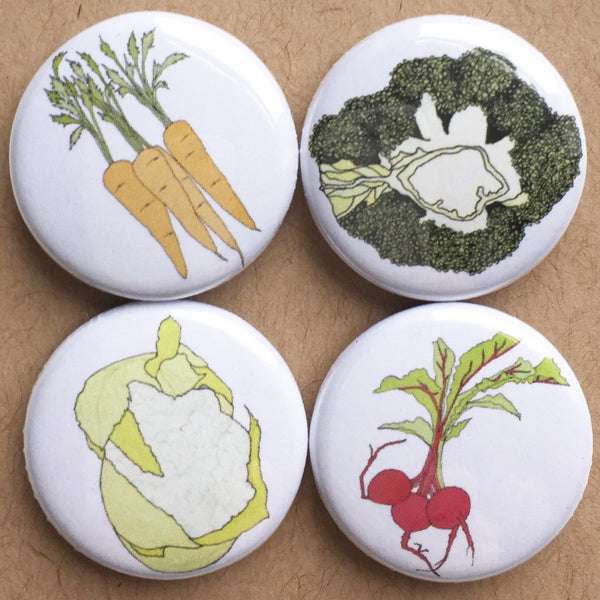 Vegetable Fridge Magnets