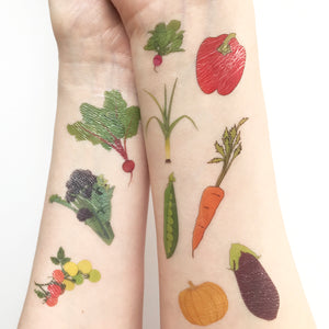Vegetable Temporary Tattoos