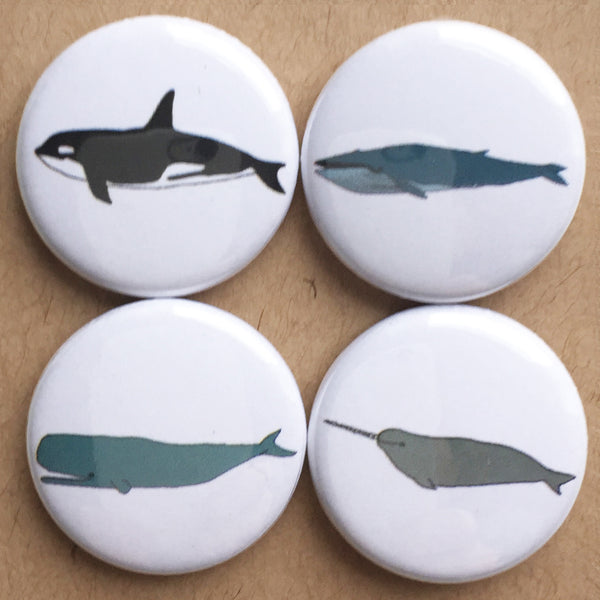 Whale badge set