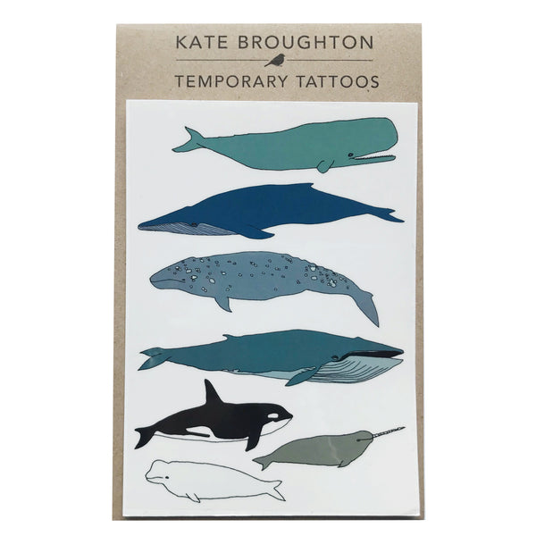 Whale Temporary Tattoos