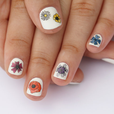 Wildflower Nail Art Transfers